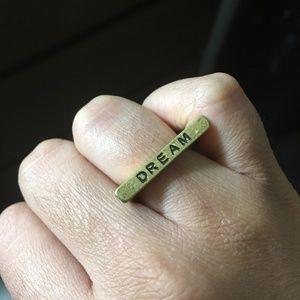 Jewelry - Dream horizontal bar ring
